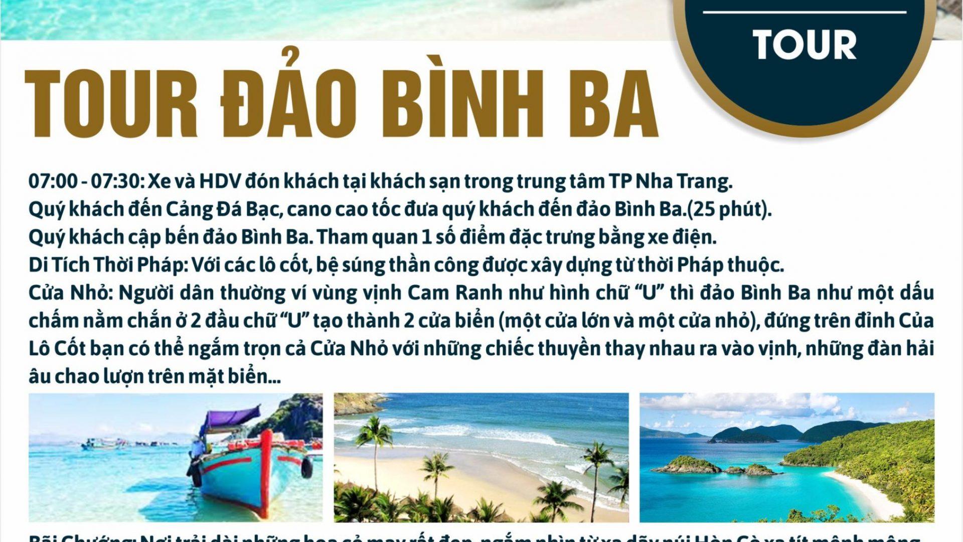 TOUR DAO BINH BA